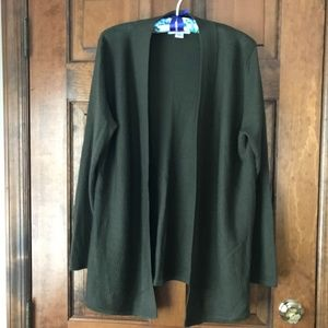 Coldwater Creek Olive Open Cardigan X-Large
